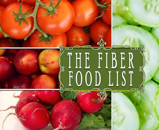THE FIBER FOOD LIST
