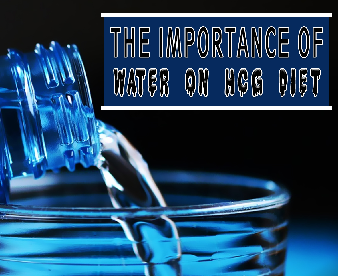 how much water hcg diet