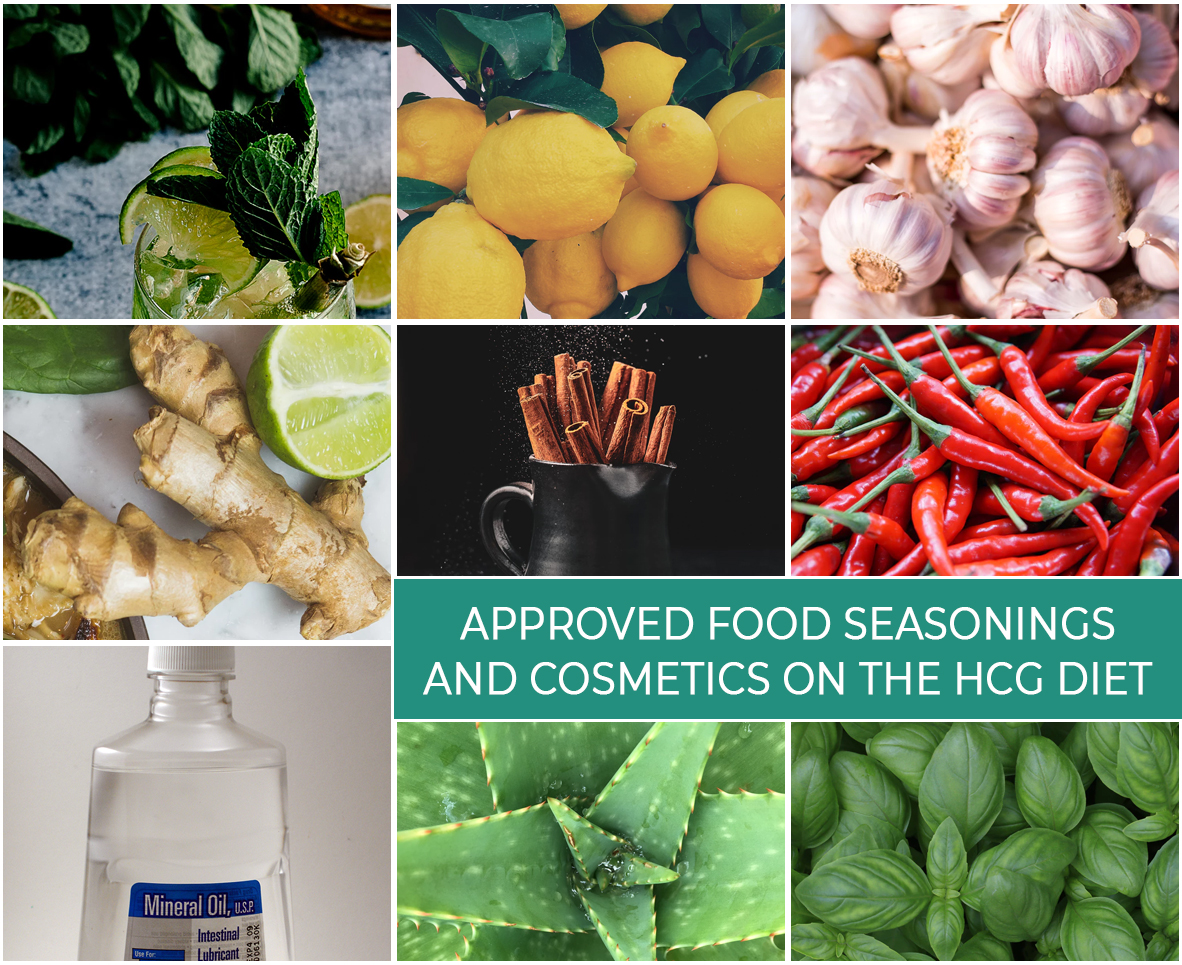 APPROVED FOOD SEASONINGS AND COSMETICS ON THE HCG DIET