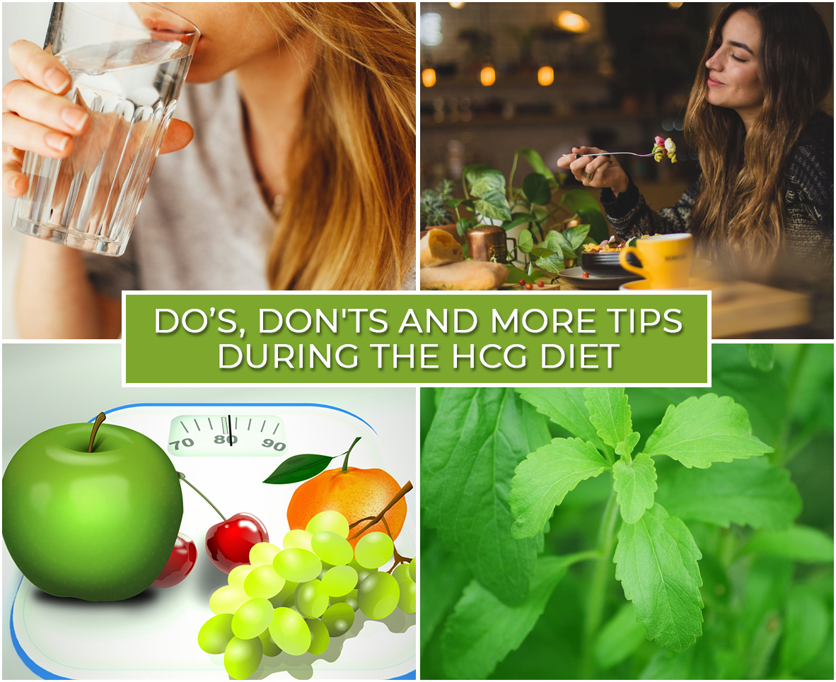 DO'S, DON'TS AND MORE TIPS DURING THE HCG DIET