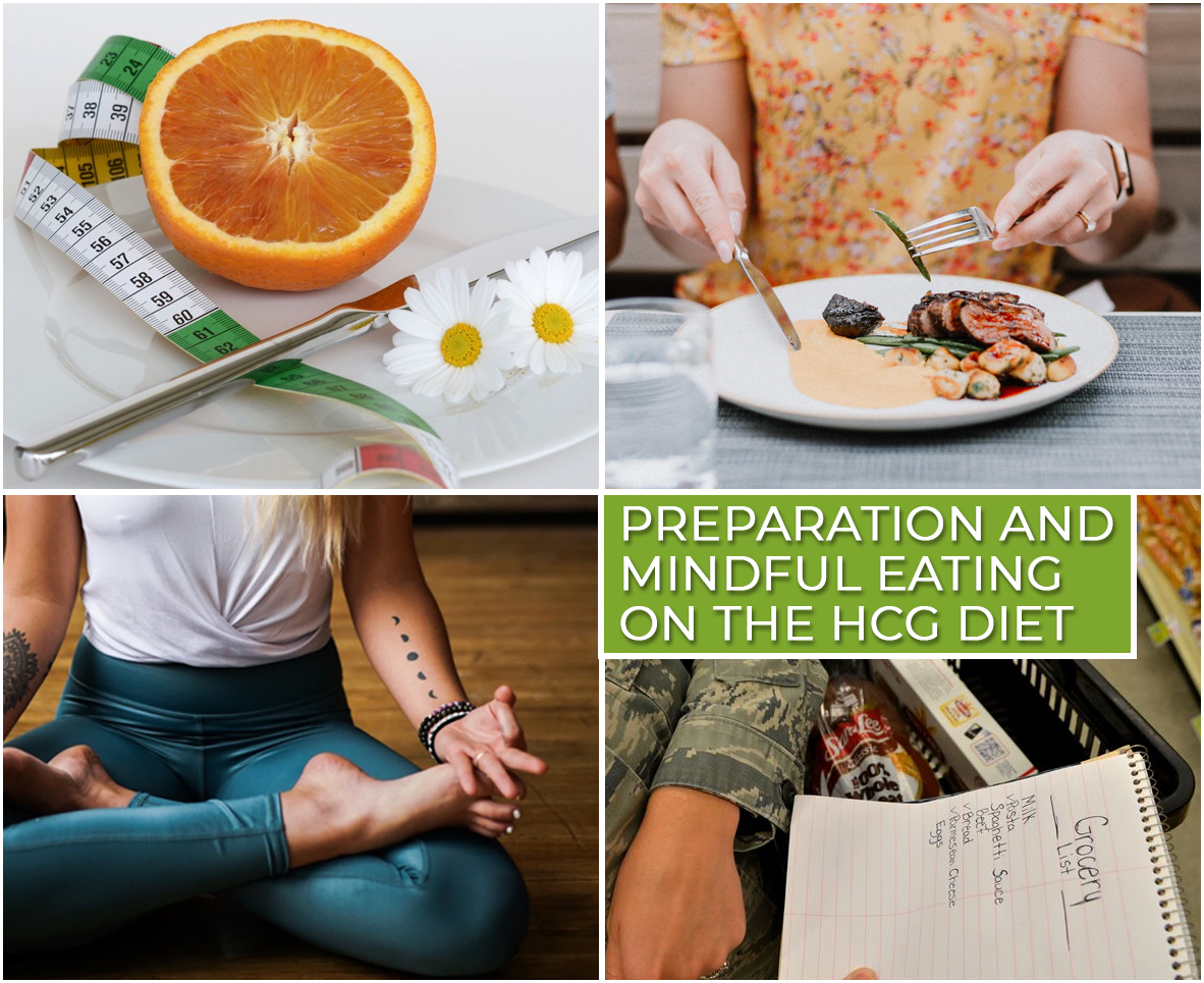 PREPARATION AND MINDFUL EATING ON THE HCG DIET