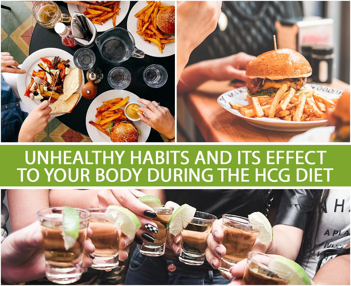 UNHEALTHY HABITS AND ITS EFFECT TO YOUR BODY DURING THE HCG DIET