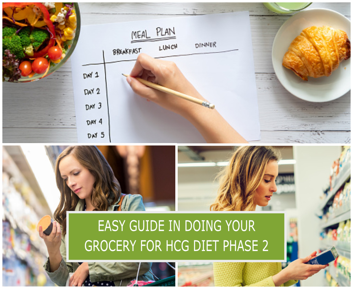 EASY GUIDE IN DOING YOUR GROCERY FOR HCG DIET PHASE 2