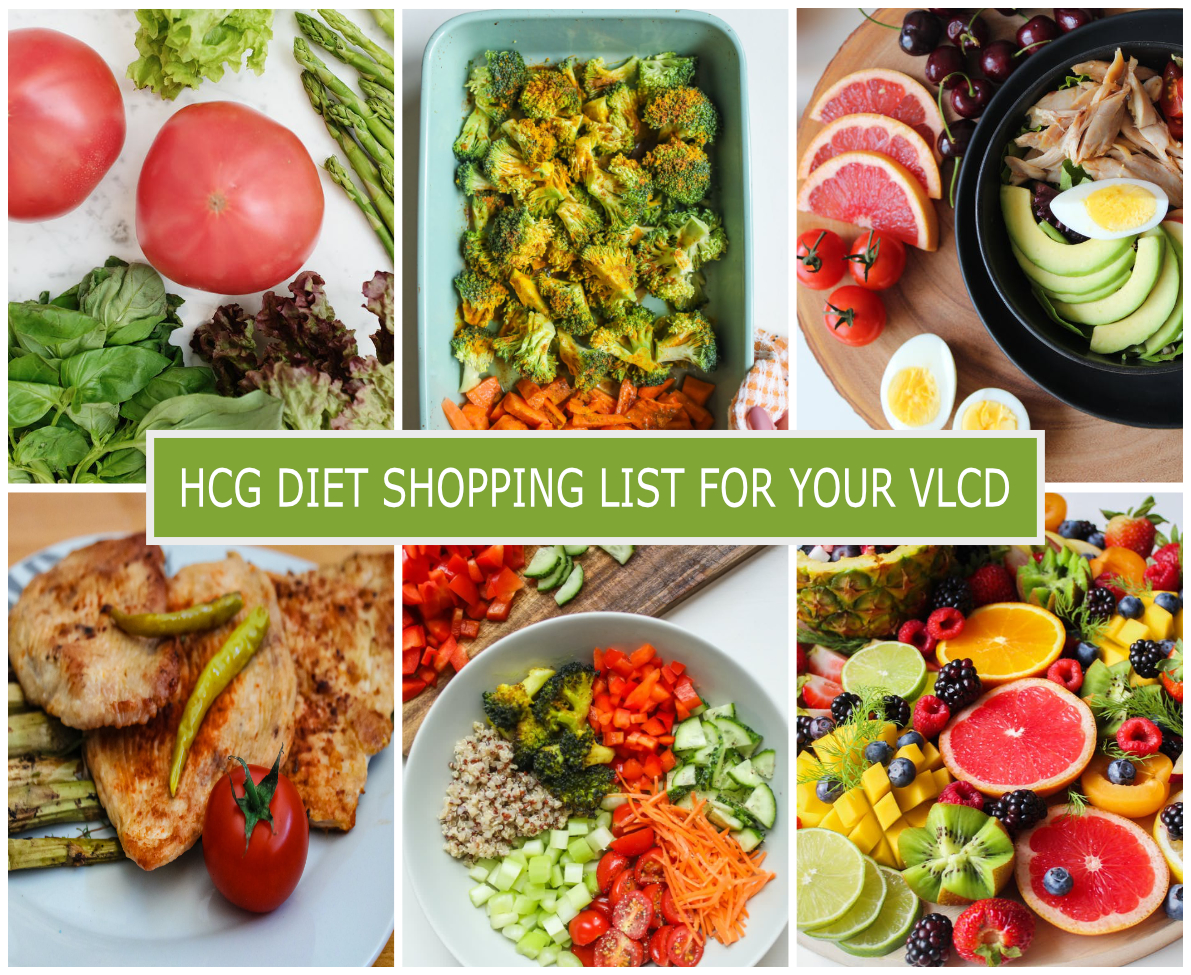 HCG DIET SHOPPING LIST FOR YOUR VLCD