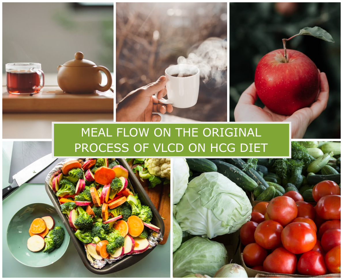MEAL FLOW ON THE ORIGINAL PROCESS OF VLCD ON HCG DIET