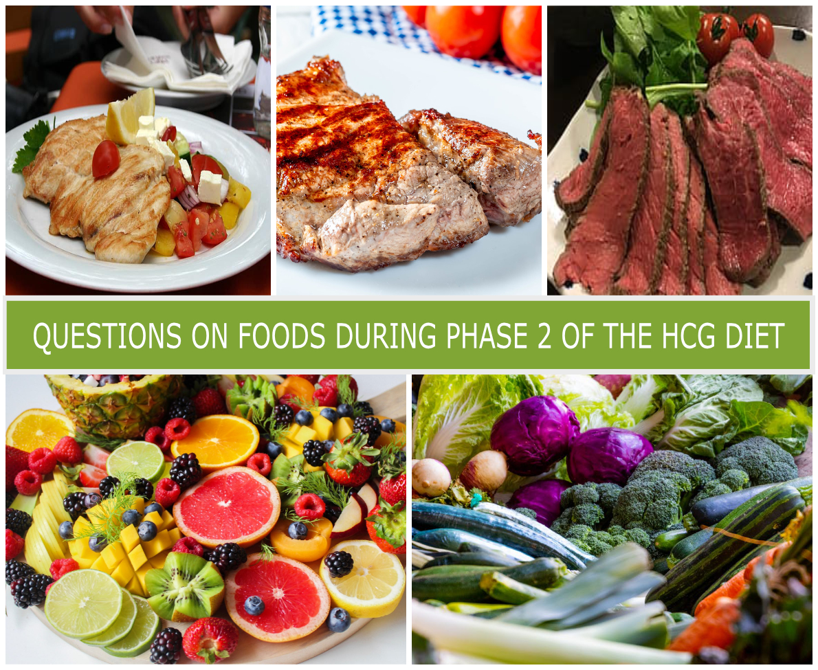 QUESTIONS ON FOODS DURING PHASE 2 OF THE HCG DIET