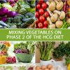 MIXING VEGETABLES ON PHASE 2 OF THE HCG DIET