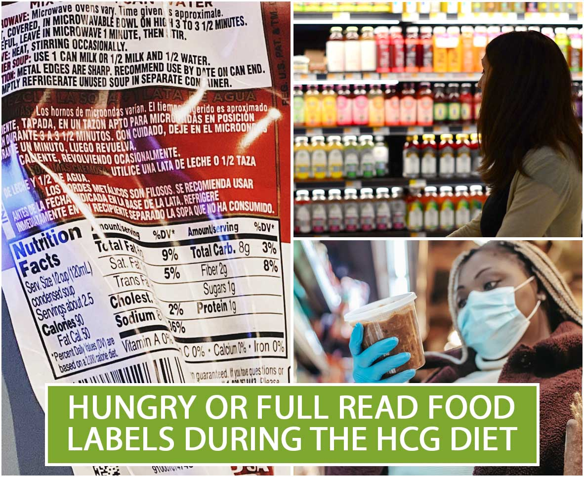 HUNGRY OR FULL READ FOOD LABELS DURING THE HCG DIET