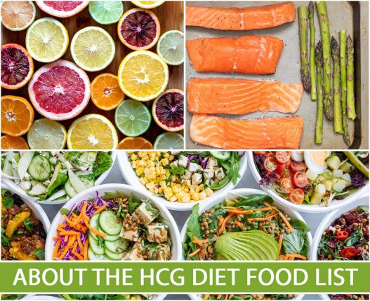ABOUT THE HCG DIET FOOD LIST